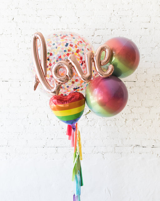 Giant Balloon Bouquet Rainbow Love