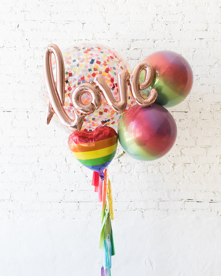 GIFT-Rainbow Love Script Giant Bouquet