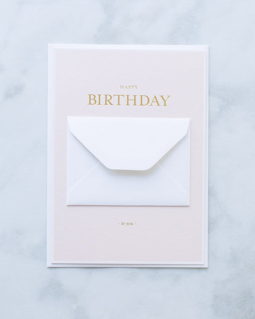 Sugar Paper Pink Tiny Birthday Message Greeting Card