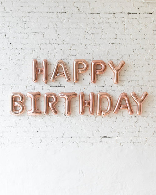 16in Rose Gold HAPPY BIRTHDAY Foil Letters Set