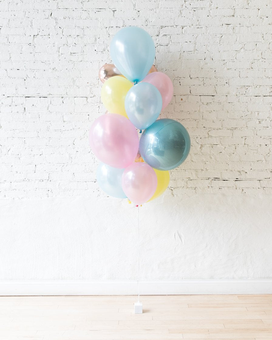 GIFT-Pearl Pastel Palette Foil Number and Latex Balloon Bouquet