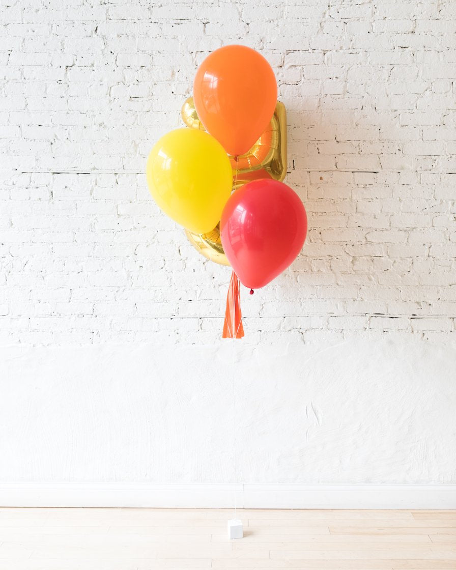 GIFT-Bright Primary Palette Foil Number and Latex Balloon Bouquet