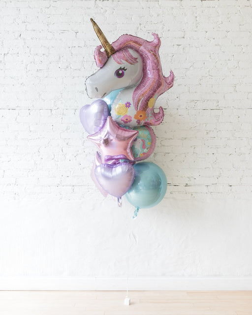 GIFT-Unicorn Theme All Foil Balloons - bouquet of 10