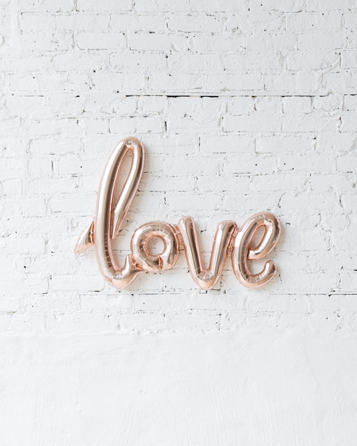40in Rose Gold Love Script