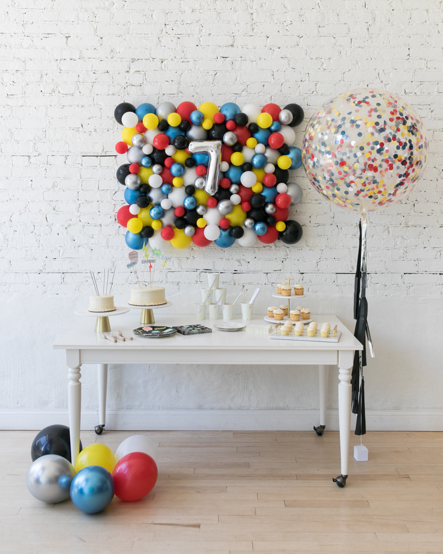 Superhero Theme Balloon Board & Confetti Giant Set