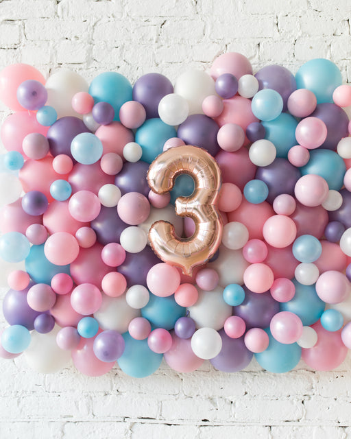 Customized Unicorn Theme Number Balloon Backdrop Board - small
