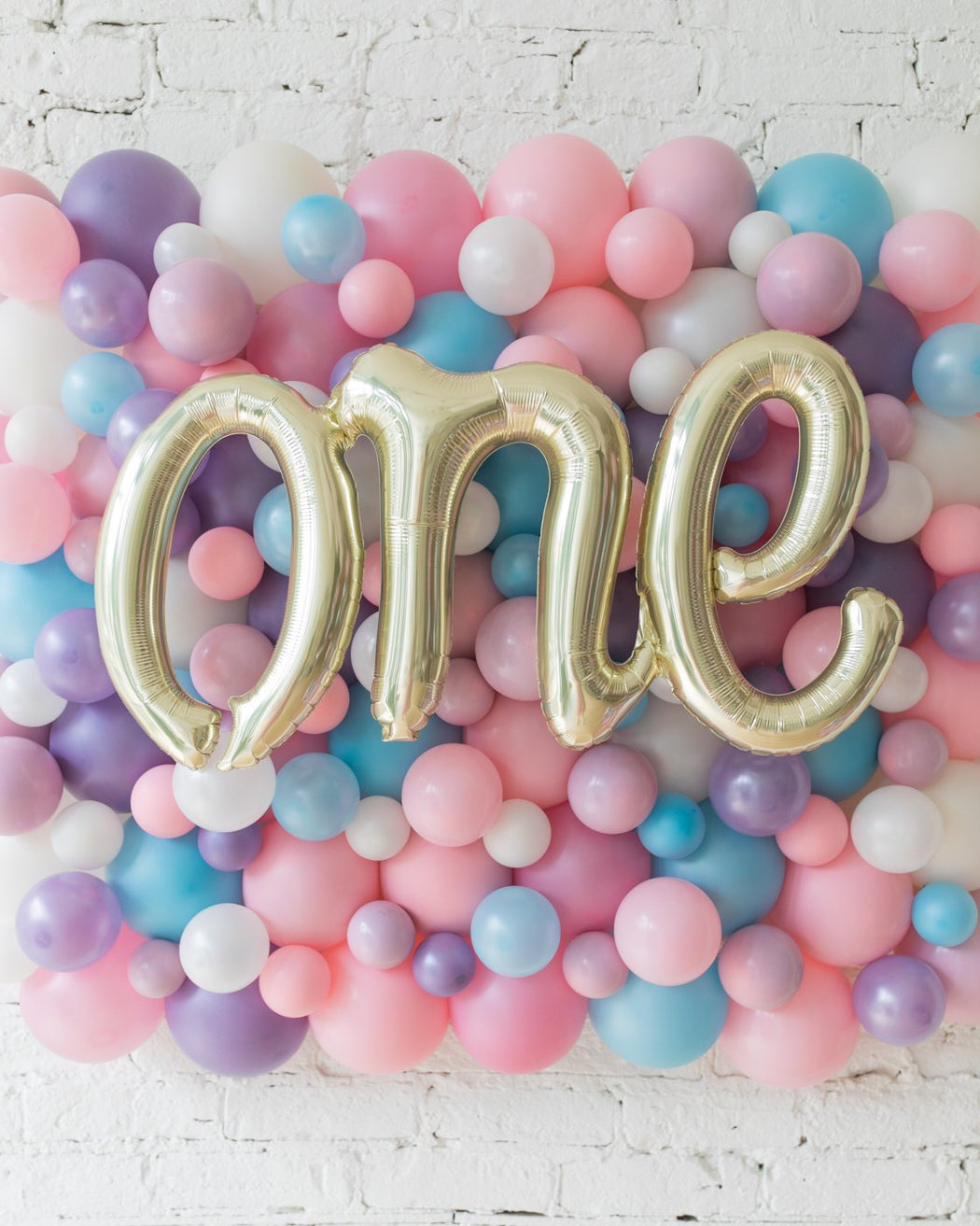 Unicorn Theme One Script Balloon Backdrop Board - small