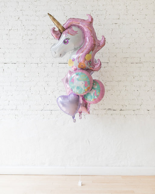 GIFT-Unicorn Theme All Foil Balloons - bouquet of 7