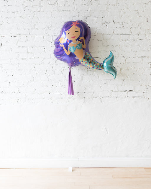 38in Mermaid Foil Balloon and Lavender Skirt