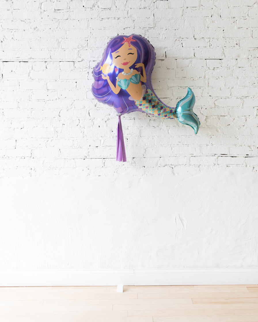 GIFT-38in Mermaid Foil Balloon and Lavender Skirt