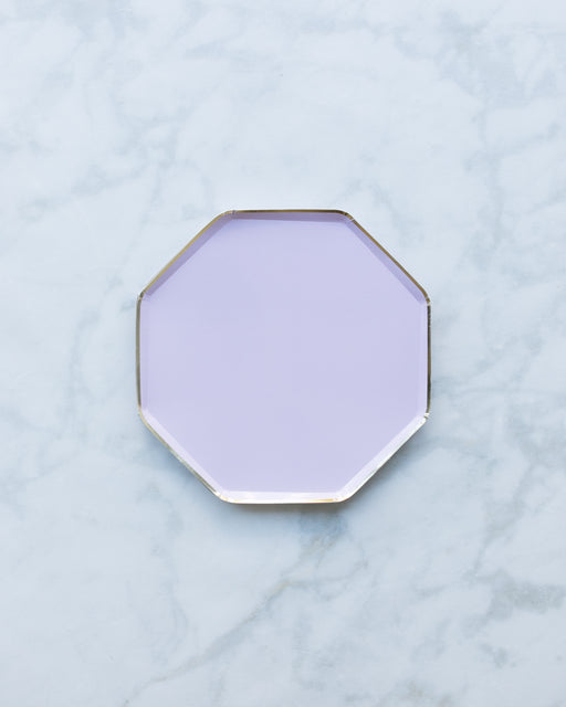 Meri Meri Large Lilac Plates - pack of 8