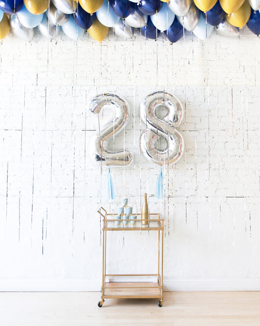 Mid Century Hues - Foil Numbers & Ceiling Balloons Set