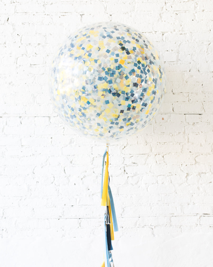 Mid Century Hues - Confetti Giant Balloon with Tassel