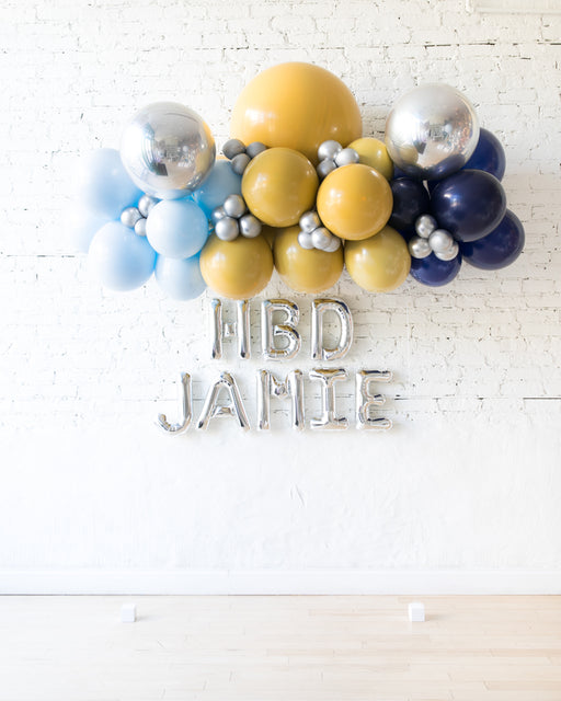Mid Century Hues - Floating Balloon Arch & Foil Letters Set