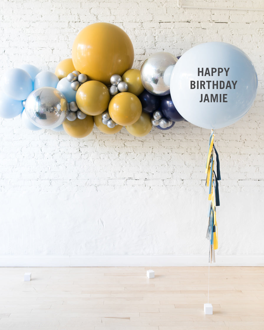 Mid Century Hues - Floating Balloon Arch and Giant Balloon Set