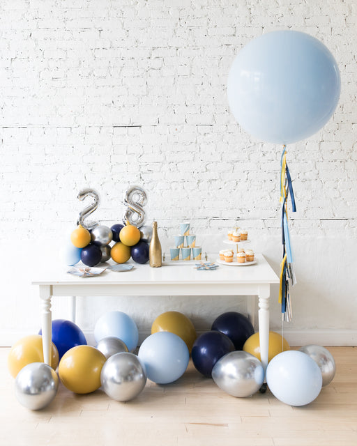 Mid Century Hues - Tabletop Numbers, Giant & Floor Balloons Set