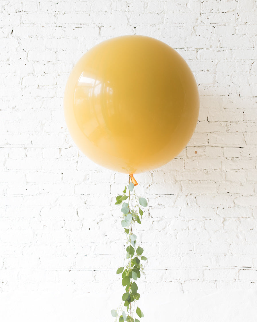Mid Century Hues - Giant Balloon and Greenery Tassel