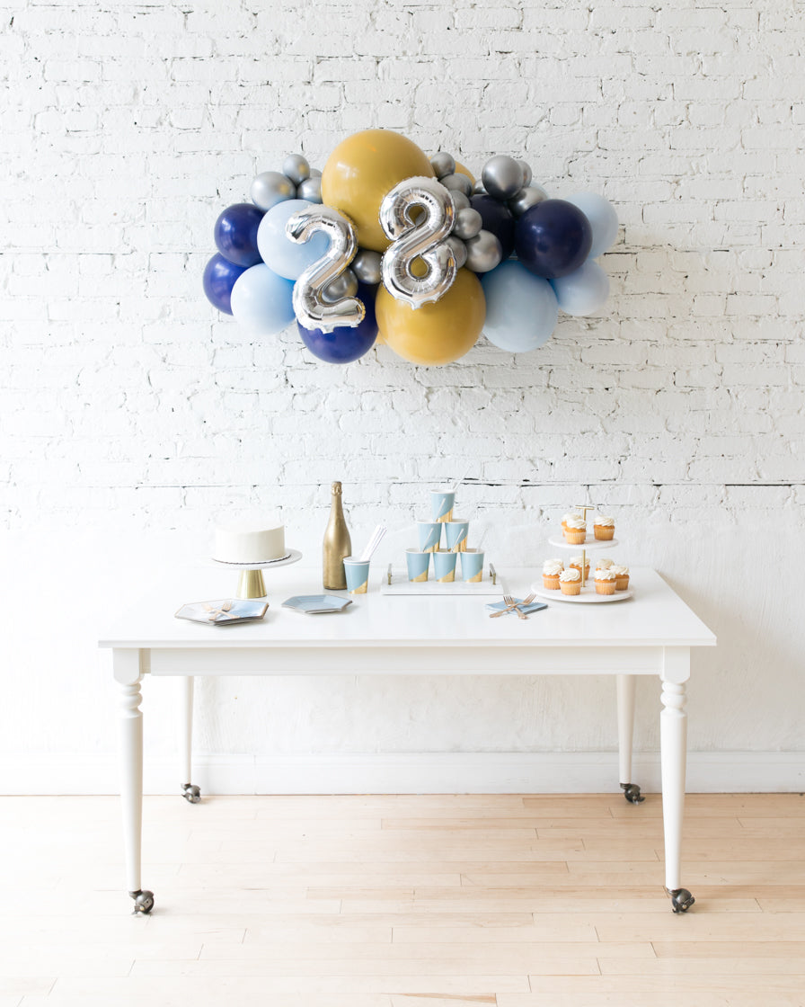 Mid Century Hues - Number Backdrop Balloon Garland Install Piece - 3FT