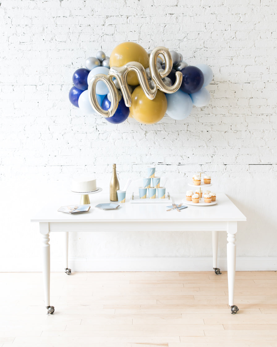 Mid Century Hues - ONE Script Backdrop Balloon Garland Install Piece - 3ft