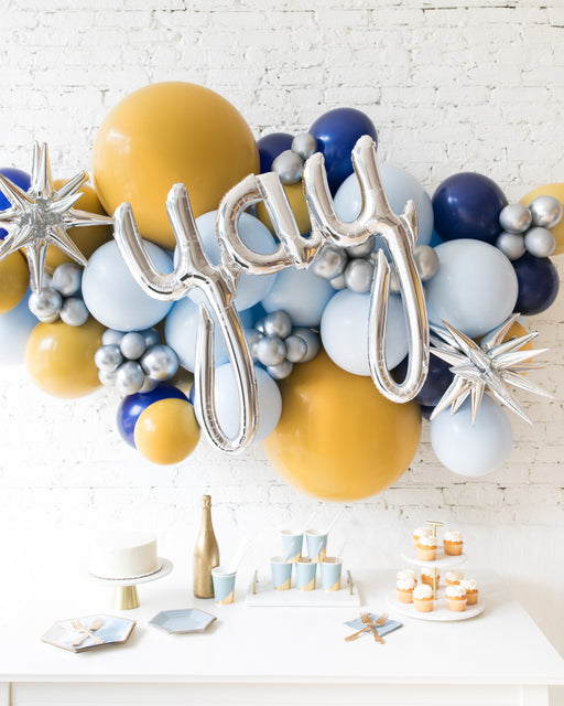 Mid Century Hues - Yay Script Backdrop Balloon Garland Install Piece - 6ft