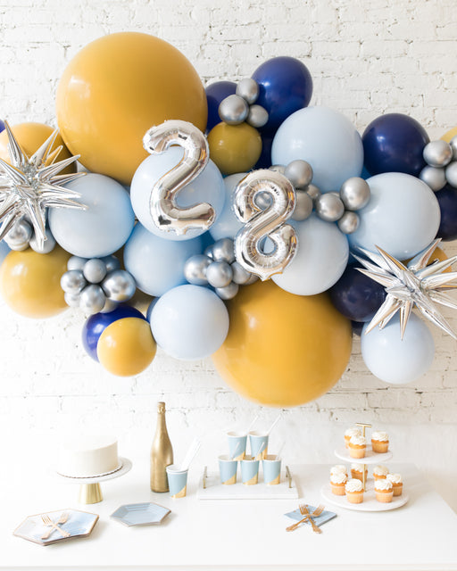 Mid Century Hues - Number Backdrop Balloon Garland Install Piece - 6ft