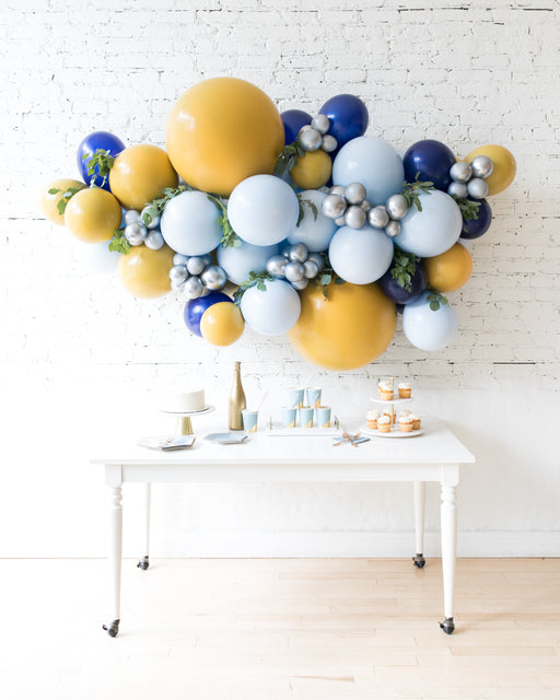 Mid Century Hues - Backdrop Balloon Garland Install Piece with Greenery - 6ft