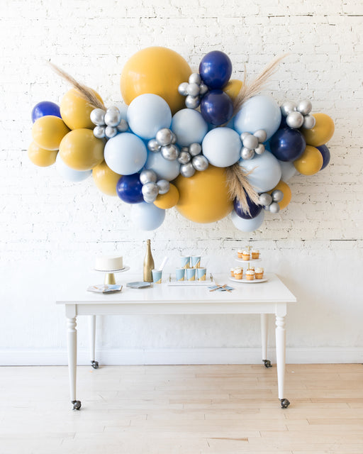 Mid Century Hues - Backdrop Balloon Garland Install Piece with Pampas Grass - 6ft