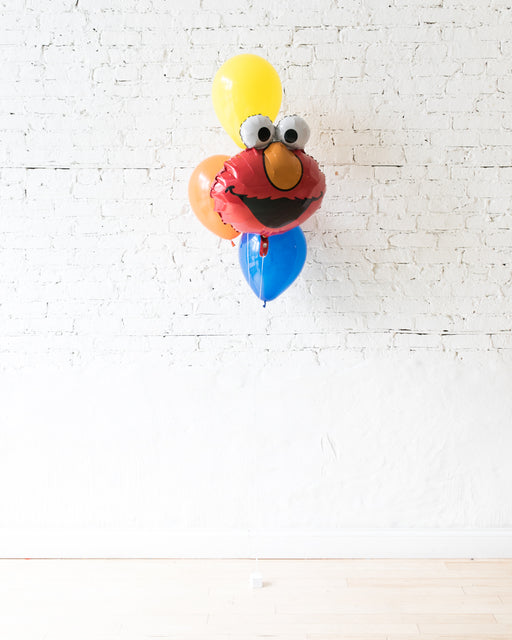 Sesame Street Theme - Elmo Foil and 11in Balloons - bouquet of 4