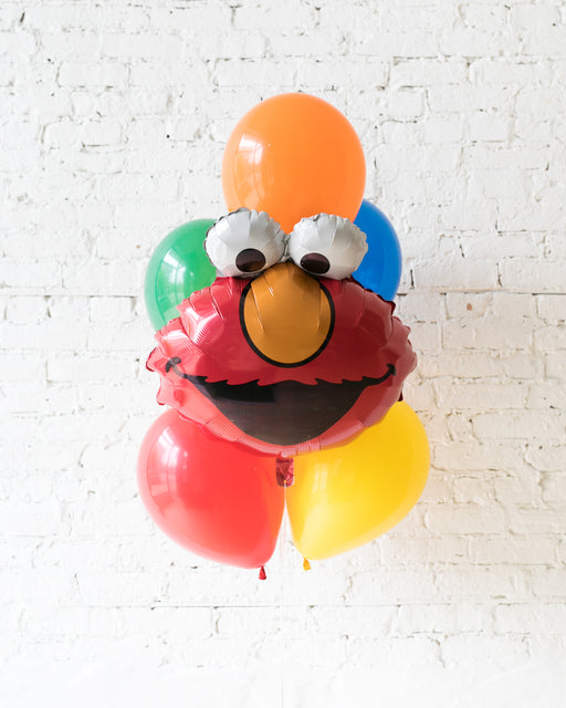 Sesame Street Theme - Elmo Foil and 11in Balloons - bouquet of 7