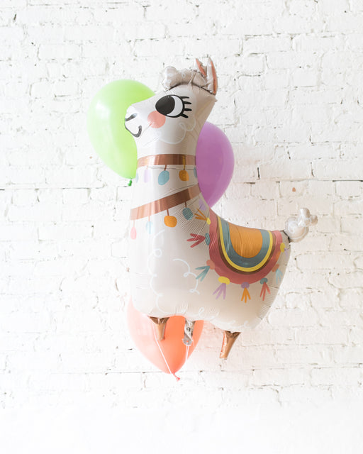 Fiesta Theme - Llama Foil and 11in Balloons - bouquet of 4