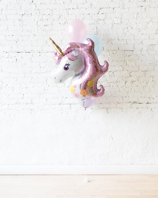 Unicorn Theme - Foil and 11in Balloons - bouquet of 4