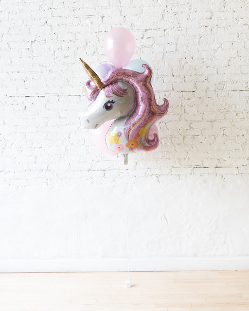 Unicorn Theme Foil and 11in Balloons - bouquet of 7