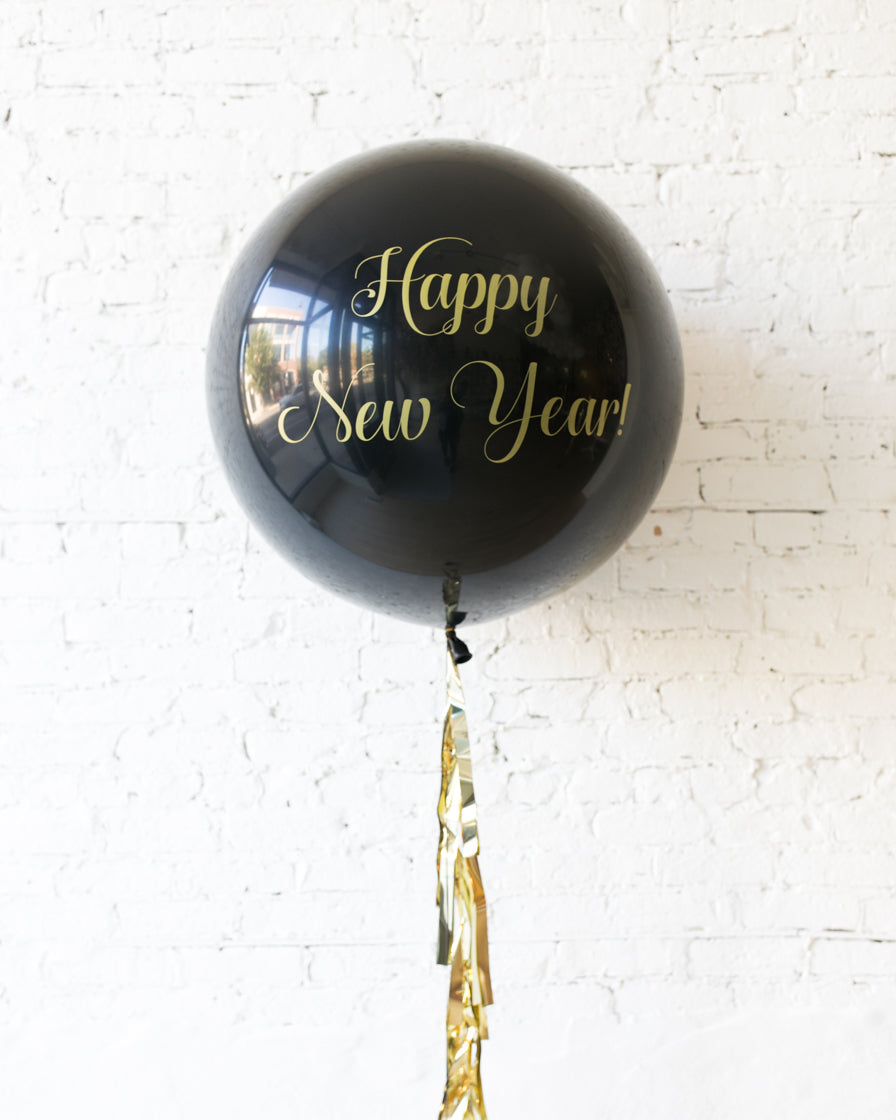 New Year's Eve - Happy New Year Giant Balloon with Tassel