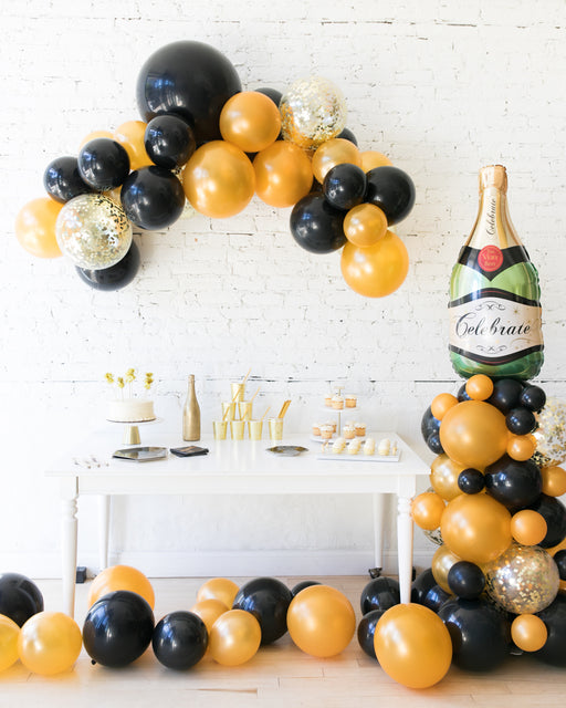 New Year's Eve - Floating Arch, Champagne Column, Floor Balloon Set