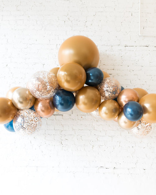 Midnight Copper - Floating Balloon Arch - 5FT