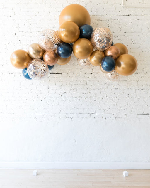 Gold, Navy and Copper Palette floating arch - Small