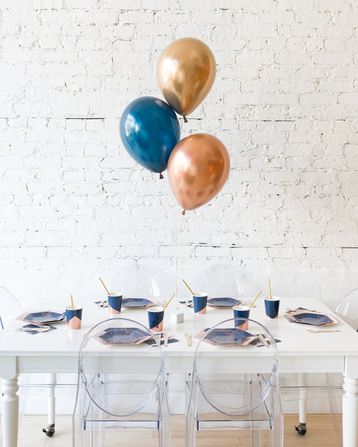 Midnight Copper - 11in Balloons Centerpiece - bouquet of 3