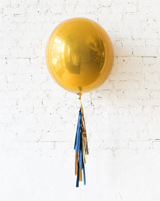 Midnight Copper - 21in Orb Foil Balloon with Half-Tassel