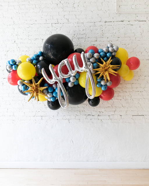 OUTDOOR-YAY Superhero Theme Balloon Garland