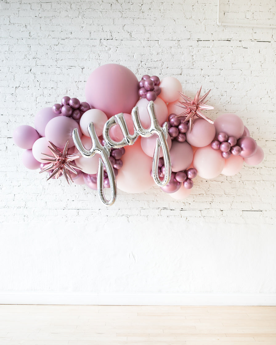 OUTDOOR-YAY Shades of Mauve Palette Balloon Garland