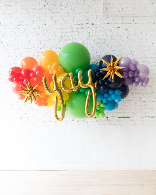 OUTDOOR-YAY Rainbow Palette Balloon Garland
