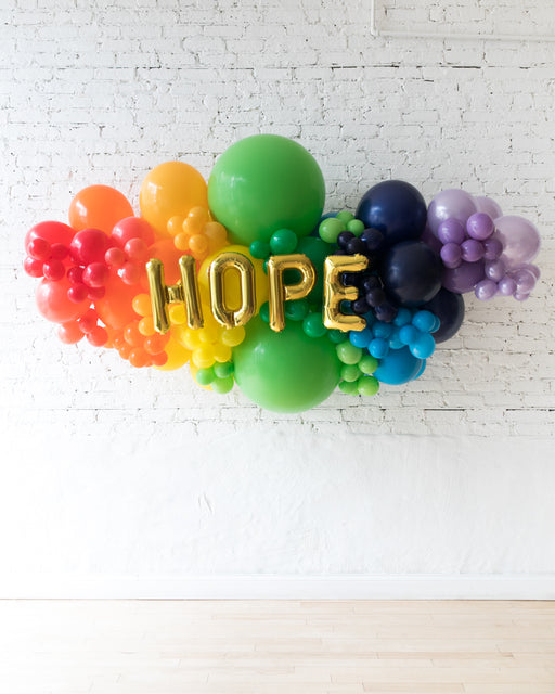 OUTDOOR-HOPE Rainbow Palette Balloon Garland