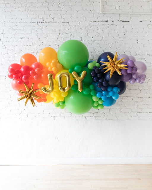 OUTDOOR-JOY Rainbow Palette Balloon Garland