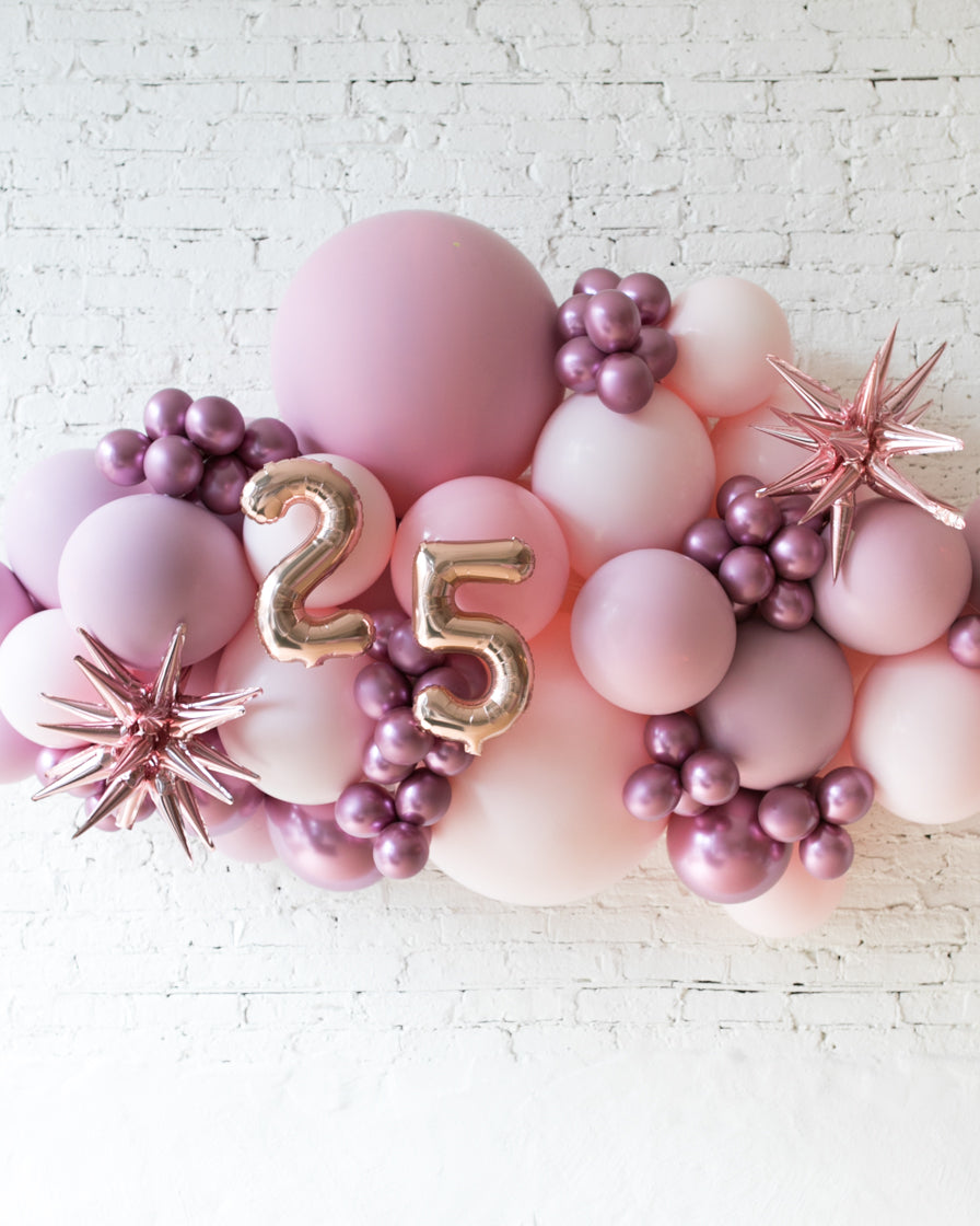 Outdoor Customizable Numbers And Shades Of Mauve Palette Balloon Garla Paris312