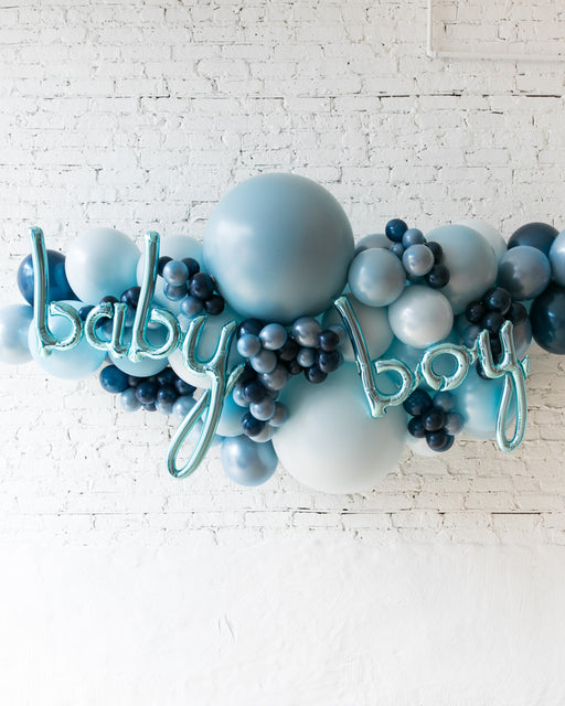 OUTDOOR-Baby Boy Soft Blue Palette Balloon Garland