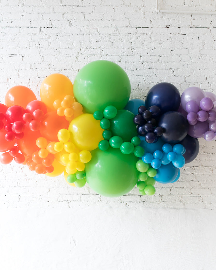 OUTDOOR-Rainbow Palette Balloon Garland