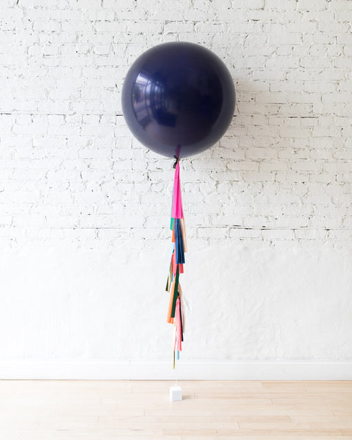Party Animal Theme - Navy Giant Balloon with Tassel