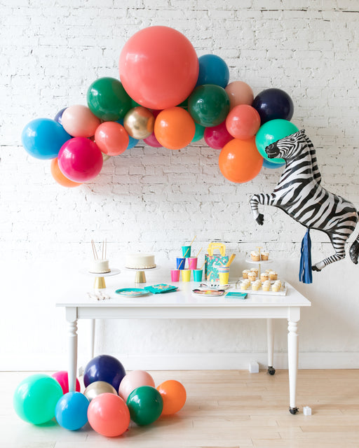 Party Animal Theme - Floating Arch & Zebra Foil Set