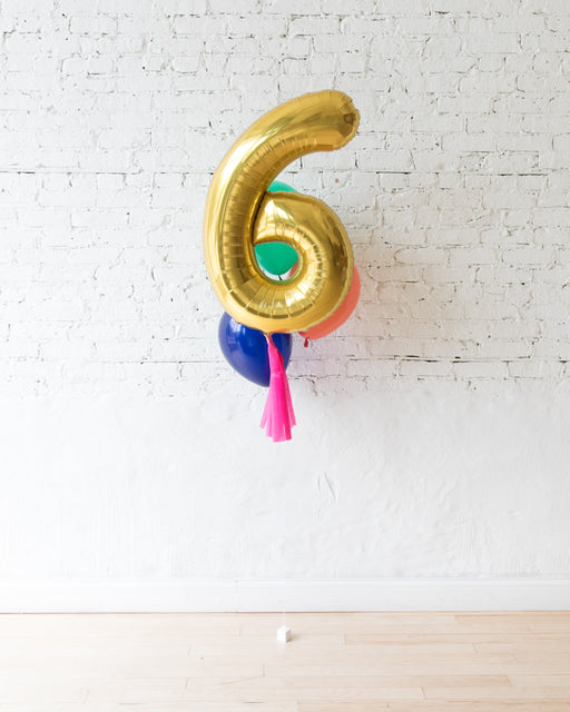 Party Animal Theme - Customizable Number and 11in Balloons - bouquet of 4