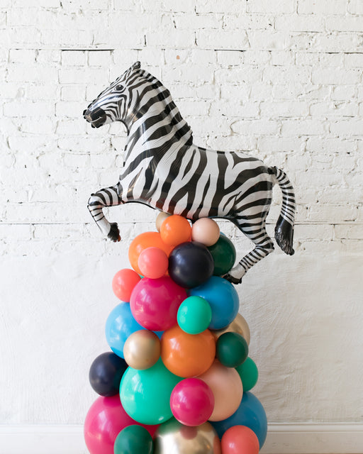 Party Animal Theme - Zebra Balloon Column - 4FT